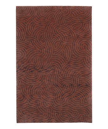 Red Shibui Wool Rug