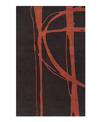 Black & Rust Signature Wool Rug