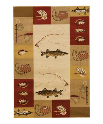 Red & Gold Big Sky Rug