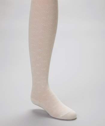 Beige Textured Tights - Infant, Toddler & Girls