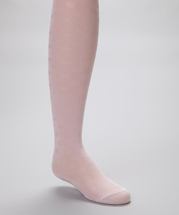 Pink Polka Dot Tights - Infant, Toddler & Girls