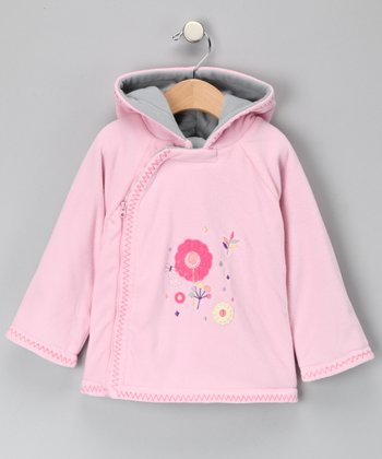 Rose Microfleece Zip-Up Jacket - Infant