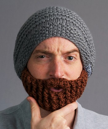 Gray Beanie & Brown Beard - Adult