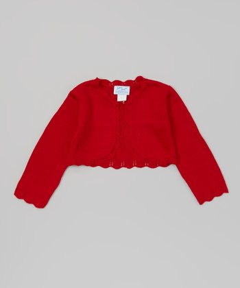 Red Knit Bolero - Toddler