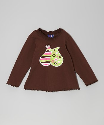 Brown Pear Pudding Tee - Infant, Toddler & Girls