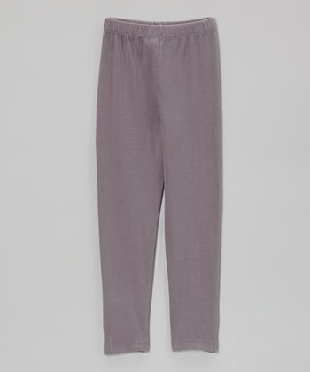 Gray Solid Leggings - Infant & Girls