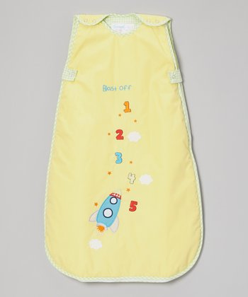 Yellow Rocket Ship Sleeping Sack - Infant