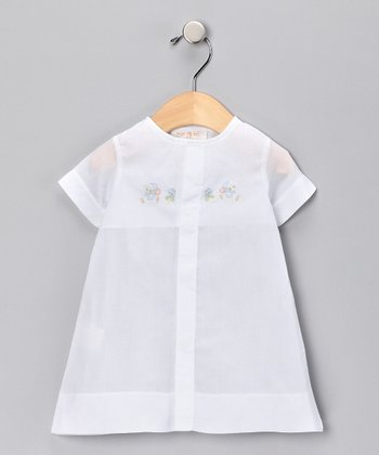 White Embroidered Gown - Infant