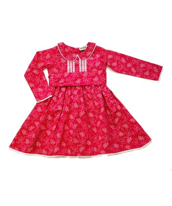 Raspberry Lena Dress - Infant, Toddler & Girls