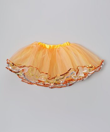 Orange Sequin Tutu - Infant, Toddler & Girls