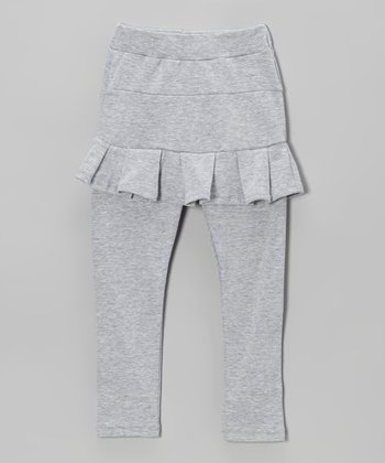 Gray Skirted Leggings - Toddler & Girls