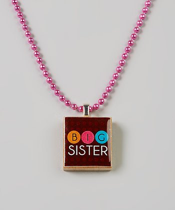 Brown 'Big Sis' Scrabble Tile Necklace