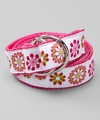 Flower Power D-Ring Belt