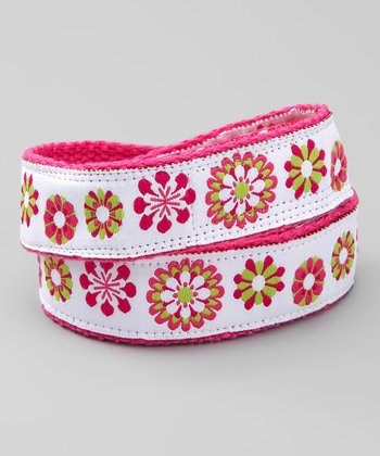 Flower Power Velcro Belt
