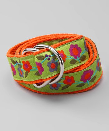 Springtime Flower D-Ring Belt