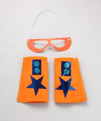 Orange & Blue Hero Mask & Cuffs