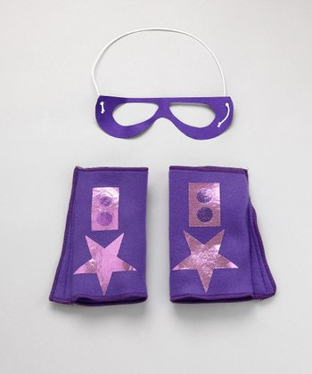Purple & Light Pink Hero Mask & Cuffs