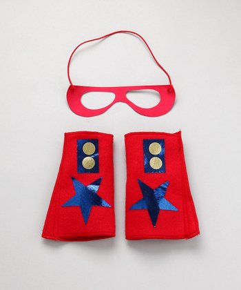 Red & Blue Hero Mask & Cuffs