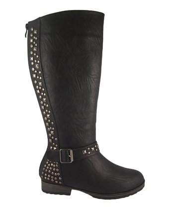 Black Studded Margie Boot