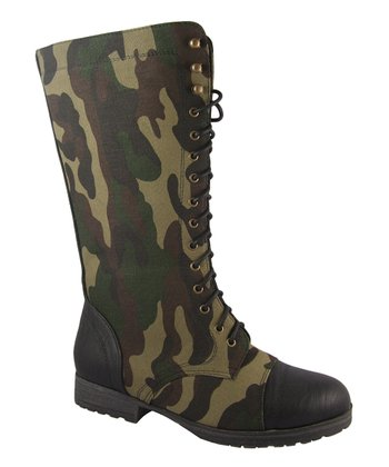 Black Camo Margie Boot - Women