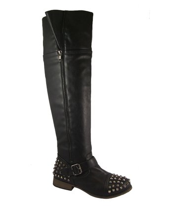 Black Spiked Legend Boot