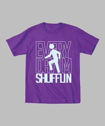 Purple 'Every Day I'm Shufflin' Tee - Toddler & Kids