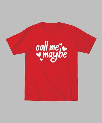 Red 'Call Me Maybe' Tee - Toddler & Girls