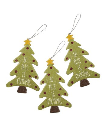 Christmas Tree Ornament - Set of Three