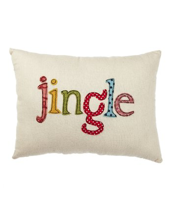 Cream 'Jingle' Pillow