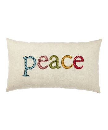 Cream 'Peace' Pillow