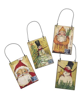 St. Nick & Friends Postcard Ornament Set