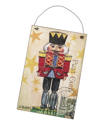 Holiday Nutcracker Postcard Wood Sign
