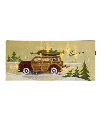 Woodie's Express Tree Delivery Light-Up Canvas Wall Art