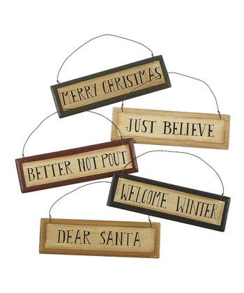 Christmas Sign Ornament Set
