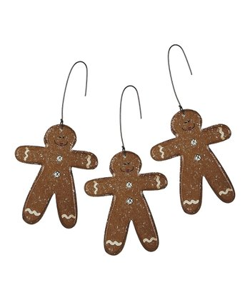 Gingerbread Man Ornament - Set of Three