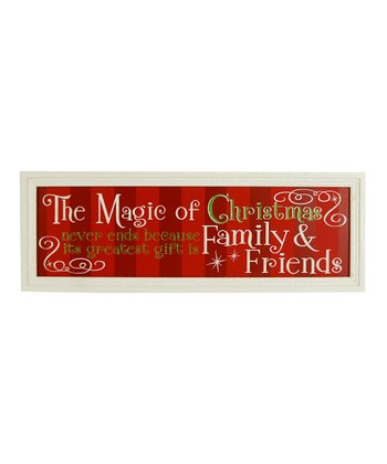 Red Stripe 'The Magic of Christmas' Wall Sign