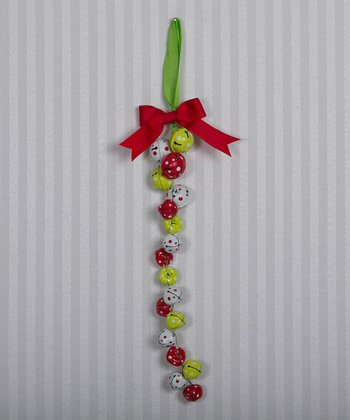 Red & Green Jingle Bell Ornament