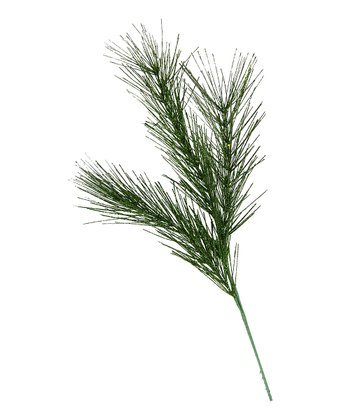 Green Glitter Wispy Pine Spray- Set of 12