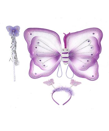 Purple Butterfly Wing Set