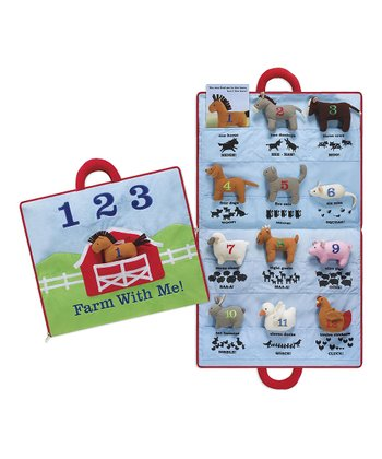 Farm Animal Plush Activity Mat