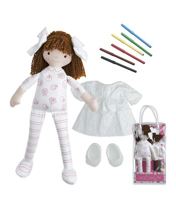 Brown-Haired Carla Color-Me™ Doll Set