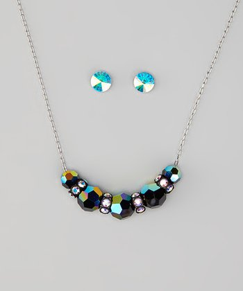 Black Necklace & Earrings Made With SWAROVSKI ELEMENTS
