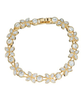 Gold Sophistication Bracelet Made With SWAROVSKI ELEMENTS