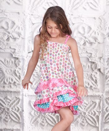Pink Paisley Smocked Ruffle Dress - Toddler & Girls