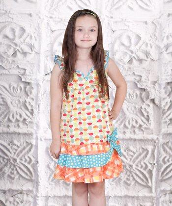 Yellow Heart Twirly Girl Dress - Toddler & Girls