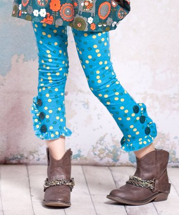 Agra Button Leggings - Infant, Toddler & Girls