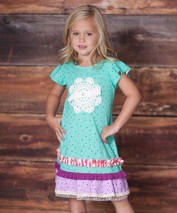 Minty Polka Dot Tea Party Dress - Infant, Toddler & Girls