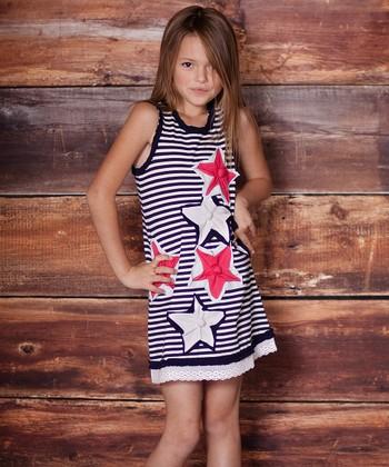 Navy Stars & Stripes Dress - Infant & Toddler