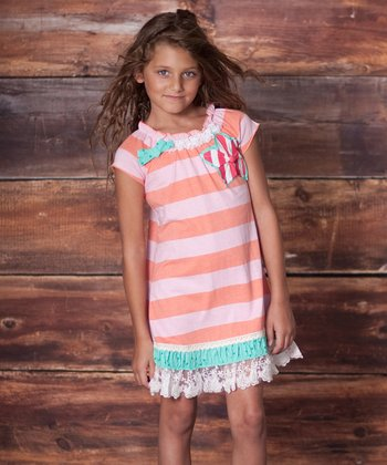 Papaya Charmed Rugby Stripe Dress - Infant, Toddler & Girls