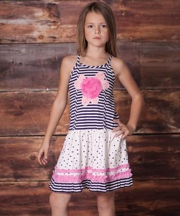 Navy Emily Rose Dress - Infant, Toddler & Girls